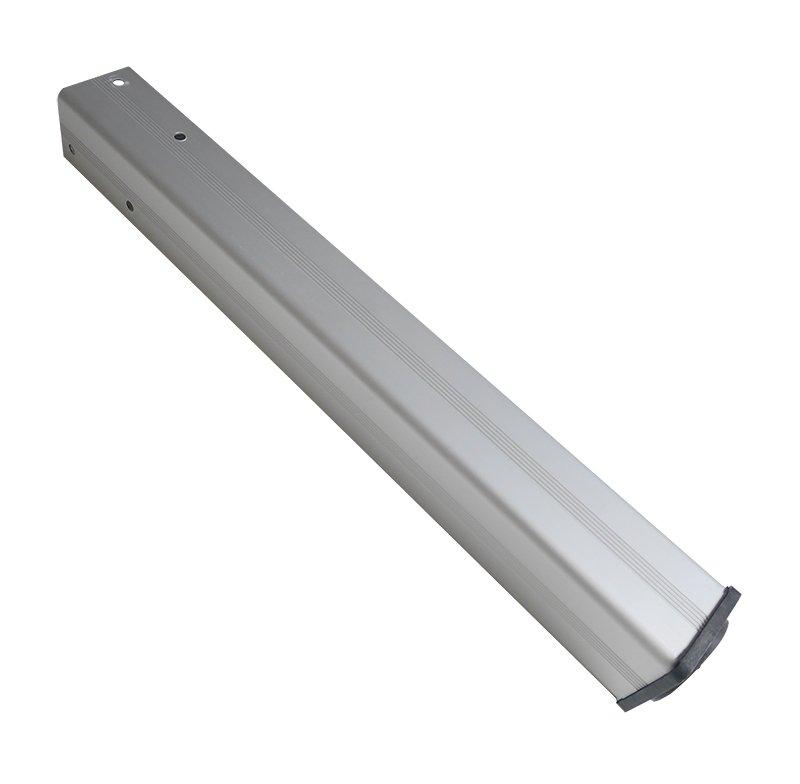 Gamba in alluminio con piedino in plastica
